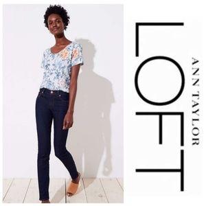 Loft Modern Straight Leg Blue Jeans Size 2